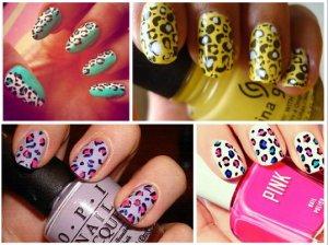 Как сделать леопардовый рисунок на ногтях?