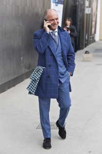 Синий и голубой цвета в мужском гардеробе