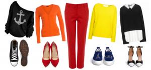C чем носить красные брюки?