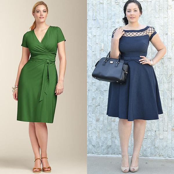 Какие платья выбирать полным женщинам? Примеры на фото