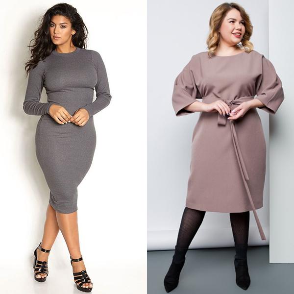 Какие платья подходят для полных женщин? Фото с примерами