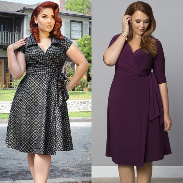 Варианты модных платьев для полных девушек