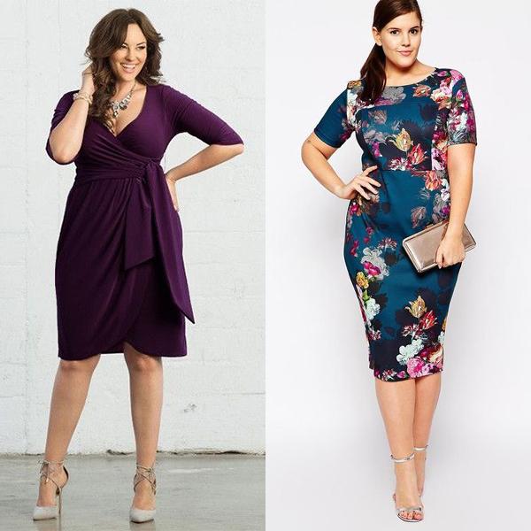 как выбрать стильное платье полной женщине?