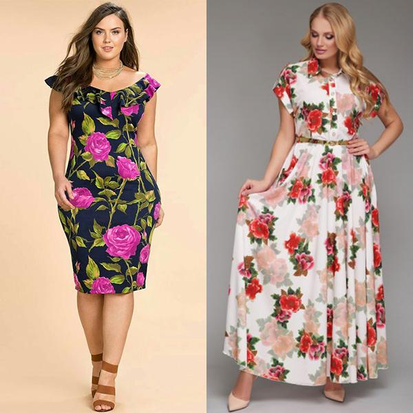 Красивые платья для полных женщин