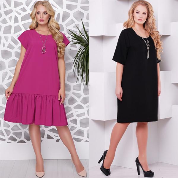 Модные платья для полных женщин. Фото