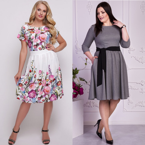 как выбрать платье женщине с большим размером одежды?