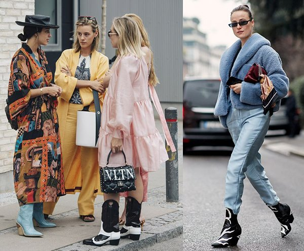 С чем носить сапоги в ковбойском стиле?