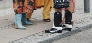 С чем носить ковбойские сапоги? Тренд 2018/19