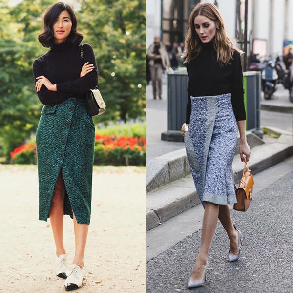 С чем носить юбку с запахом? Фото с примерами образов