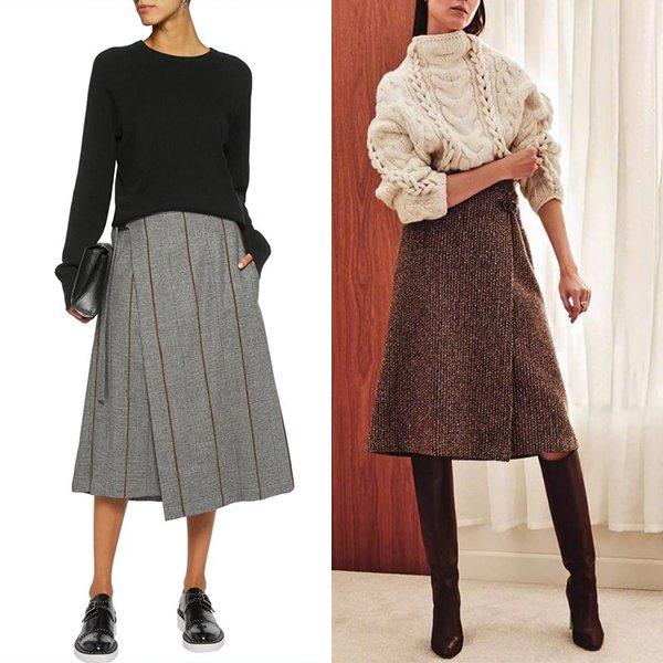 С чем носить юбку с запахом?