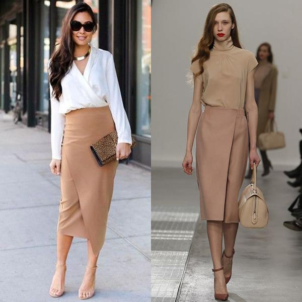 С чем носить юбку с запахом? Фото с идеями