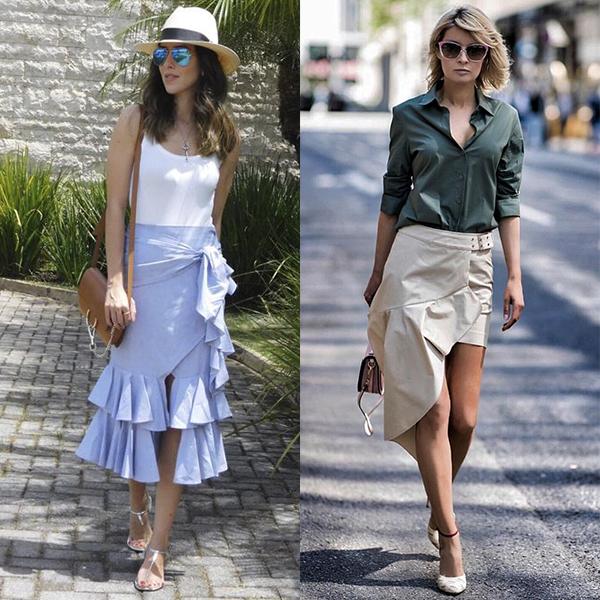 Модели юбок с запахом примеры фото