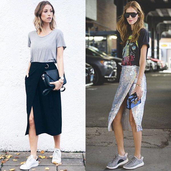 С чем носить юбку с запахом.? Мода 2018 2019