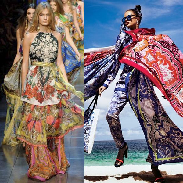 Платки в образах. Мода