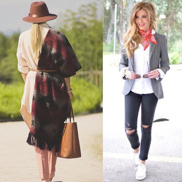 Как одевать платок? Модные образы