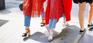 Как носить платье с брюками или джинсами?