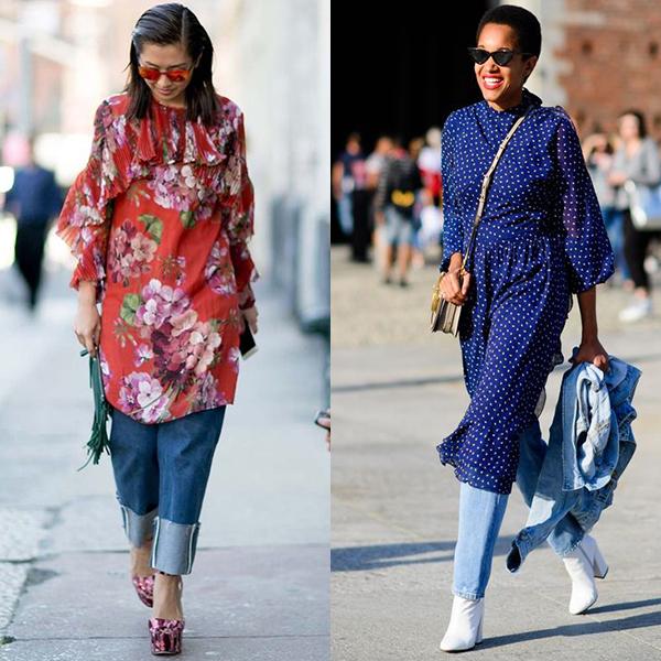 Какие платья можно носить с брюками?