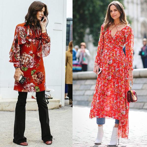 Платья брюками и джинсами, интересные сочетания.