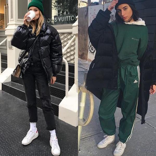 Спорт шик стиль в одежде зима