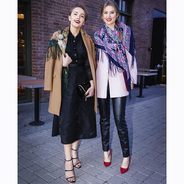 Павлодарские платки на девушках