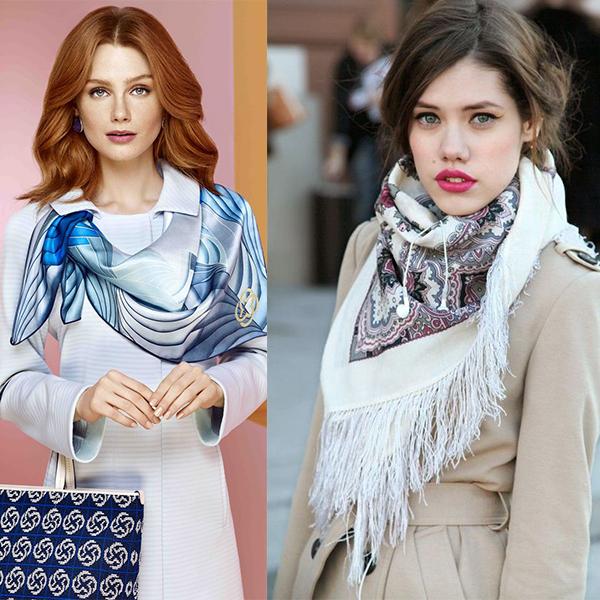 Красивые женщины в платках