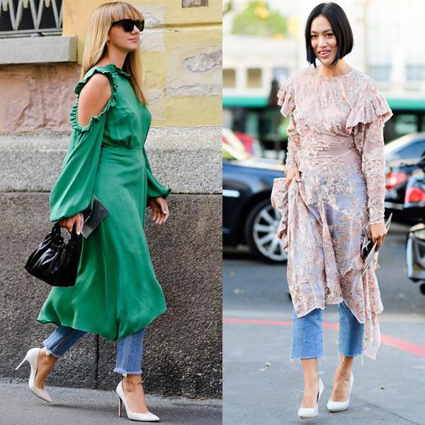 С ккакими штанами можно носить платья?
