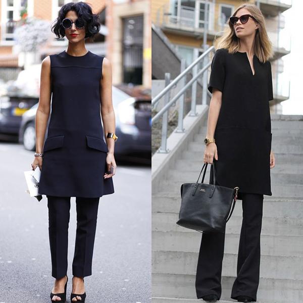 Платья и штаны. Новая мода