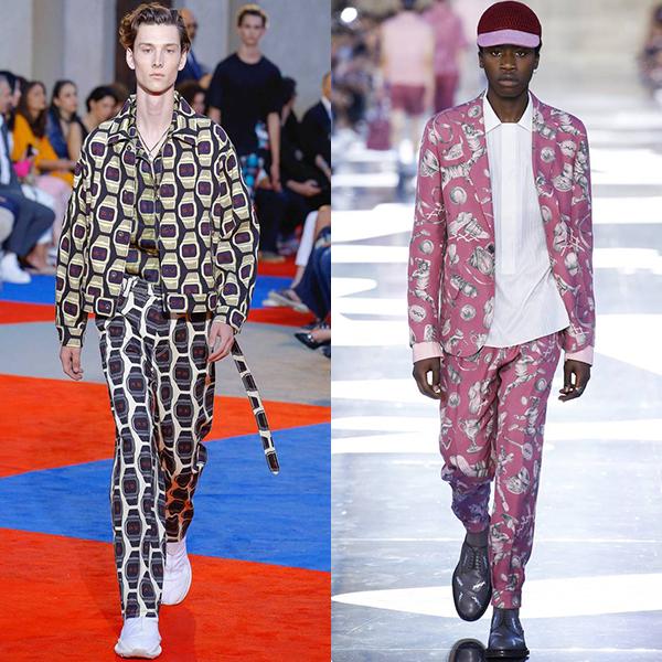 Мужская мода весна лето 2019 цвета и принты фото