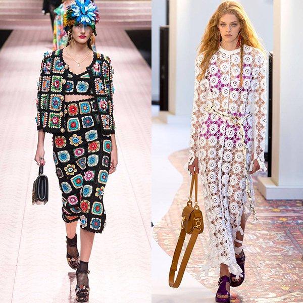 Модные вязаные вещи тенденции весна лето 2019