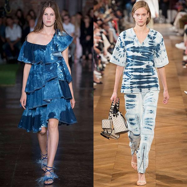 модная джинсовая одежда весна лето 2019