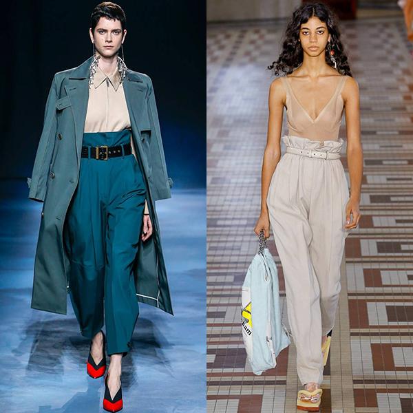 мода весна лето 2019 брюки женские