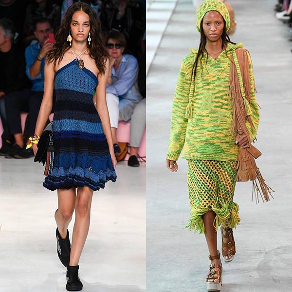 Модные вязанные платья весна лето 2019