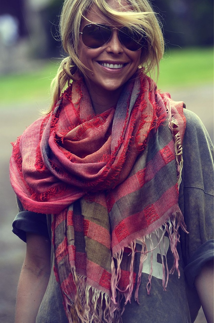 Как носить шарф 10