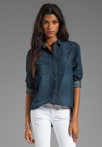 с чем носить джинсовую рубашку 02