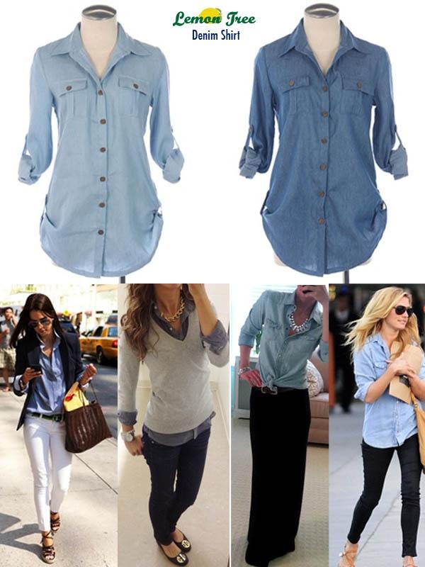 с чем носить джинсовую рубашку 05