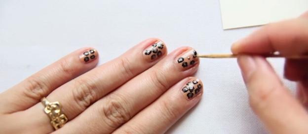 леопардовый рисунок на ногтях 05