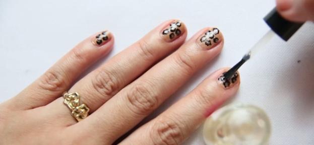 леопардовый рисунок на ногтях 06