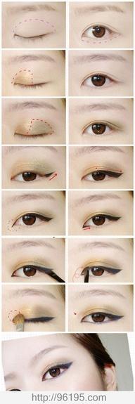 макияж для азиатских глаз 06