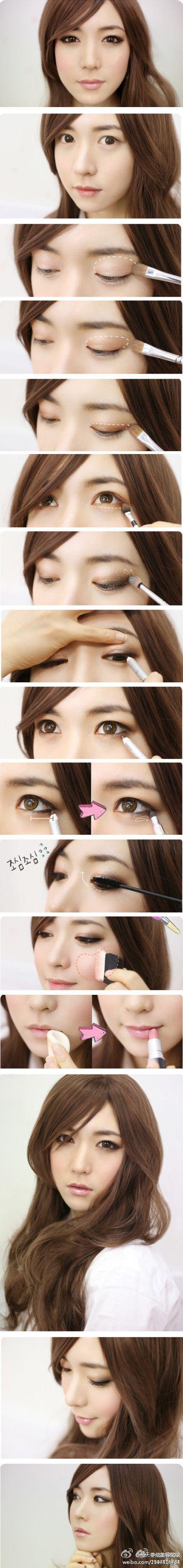 макияж для азиатских глаз 07