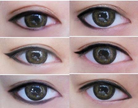 макияж для азиатских глаз 08