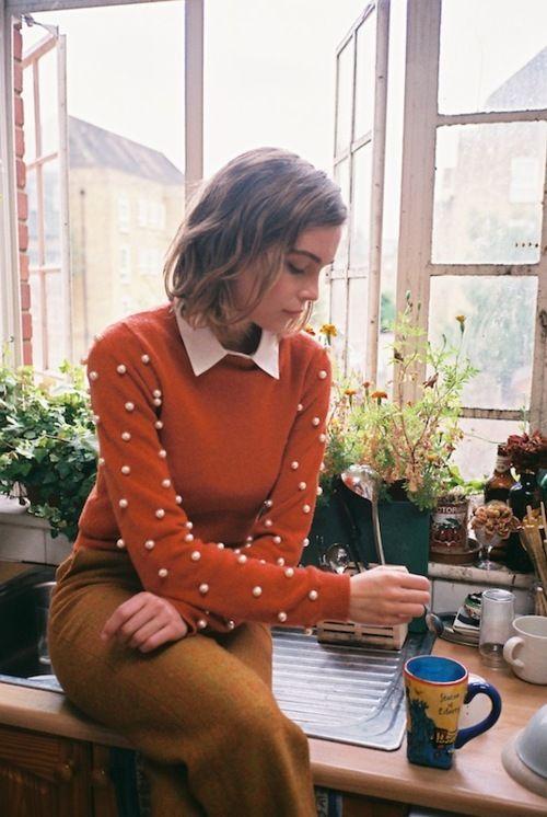 свитер с рубашкой 010