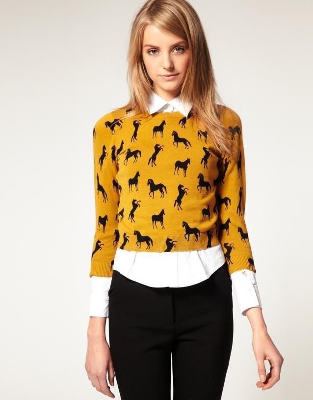 свитер с рубашкой 16