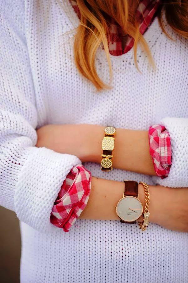 свитер с рубашкой 26