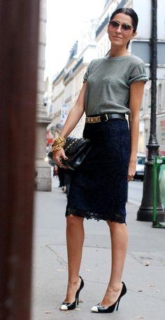 с чем носить юбку карандаш фото 15