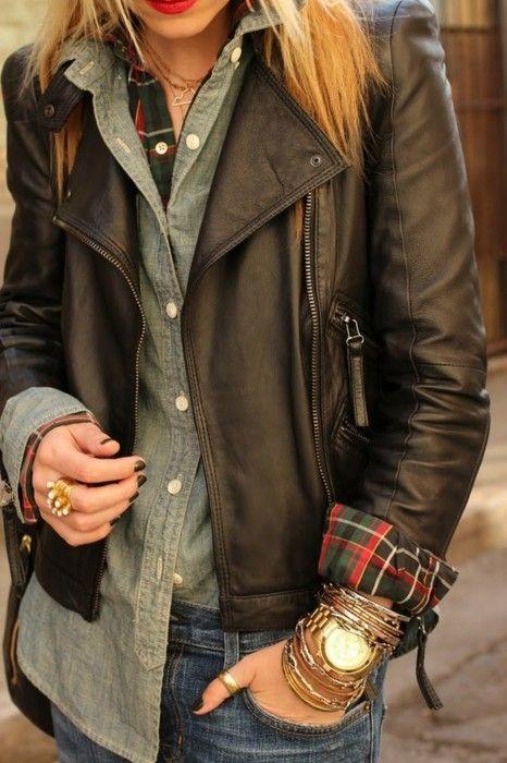 с чем носить кожаную куртку 08