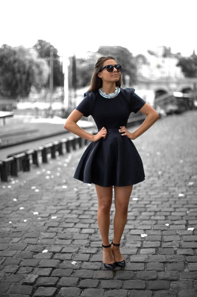 с чем носить черное платье 03