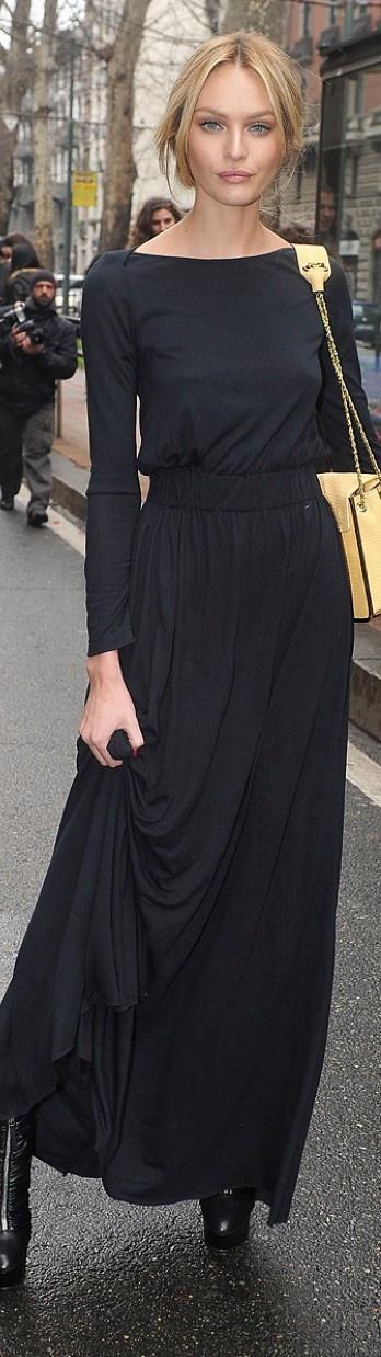 с чем носить черное платье 04