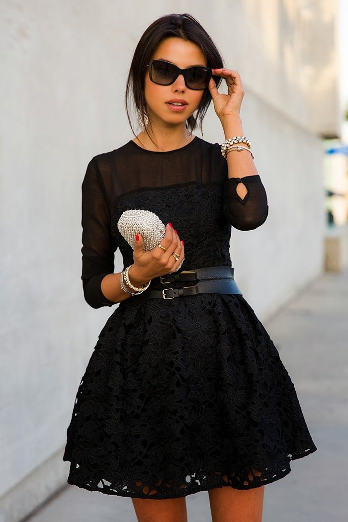 с чем носить черное платье 05