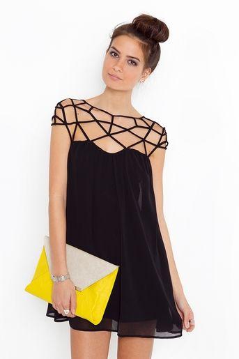 с чем носить черное платье 08