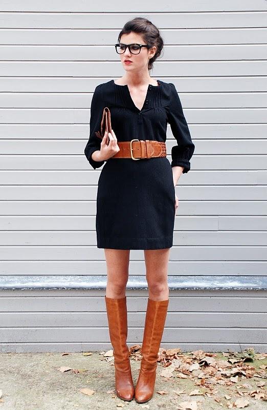 с чем носить черное платье 10